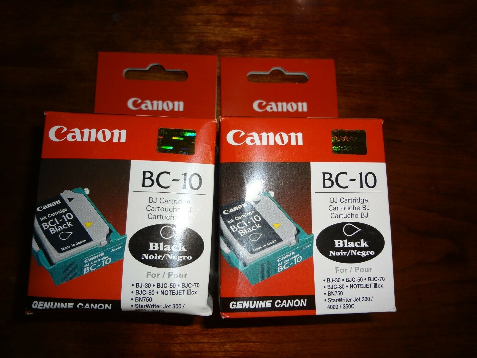 LOT OF 2 NEW GENUINE CANON BC-10 PRINTHEAD NOTEJET lllcx starwriterjet 300 4000