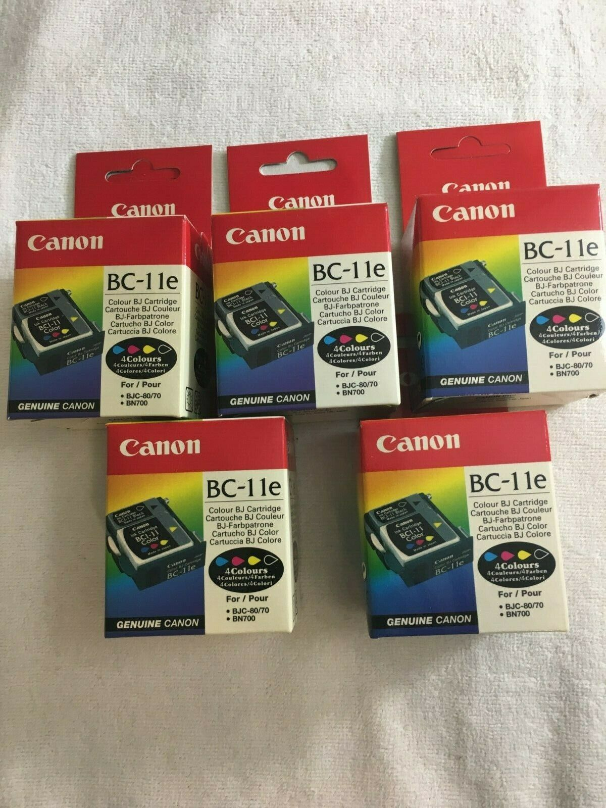 Lot of 10 Genuine Canon BC-11e Ink Cartridges BJ 30 LR1 BJC 70 85 50 55 85w 80